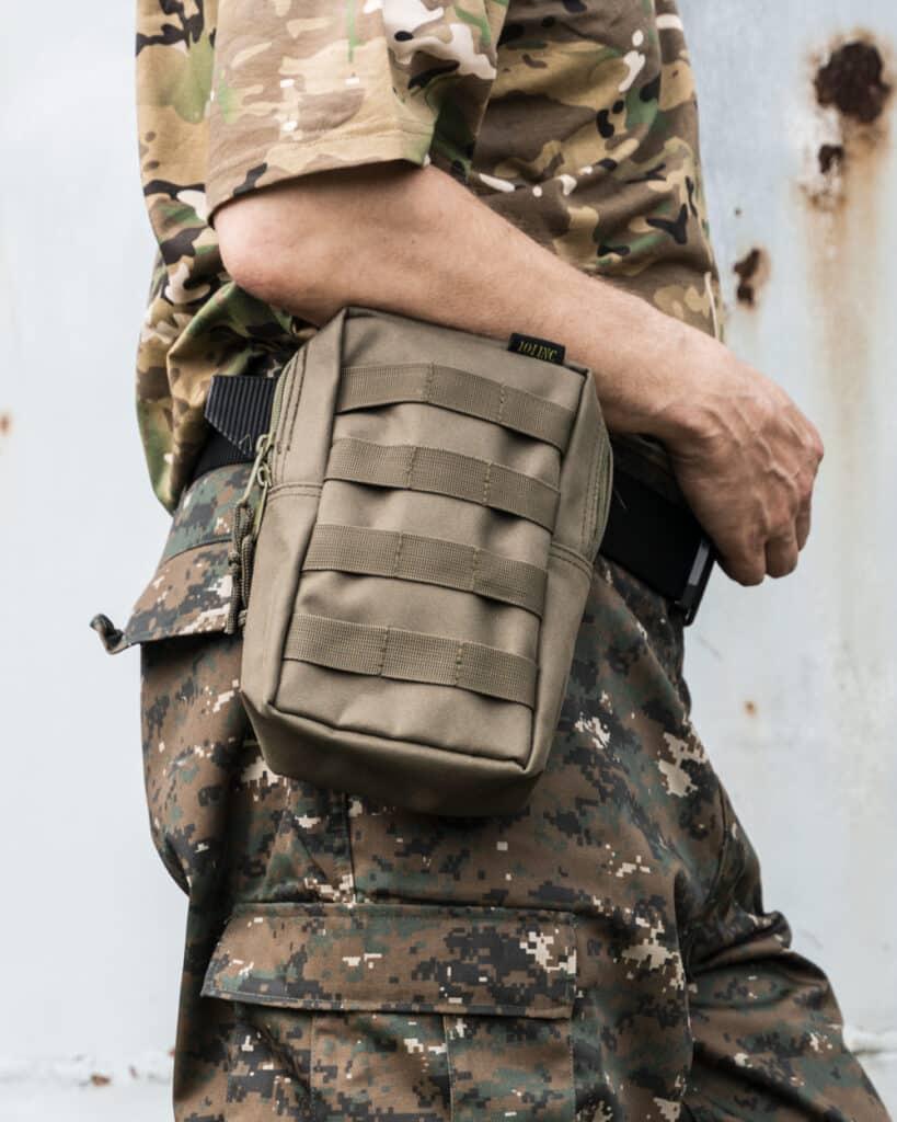 101inc Tactical Upright MOLLE Tasku Vihreä3