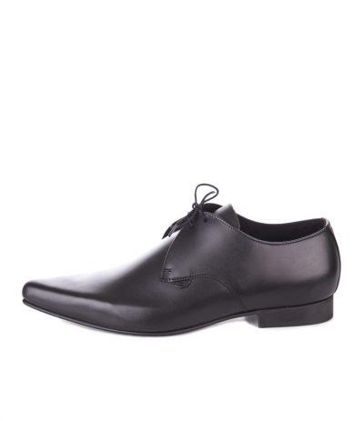 Spittarit Nahkakengät 50-luvun Tyyliin, Underground Paul nahkakengät, mustat, kiiltävät, englantilaiset, todella rouheat old school kengät 50-luvun tyyliin
