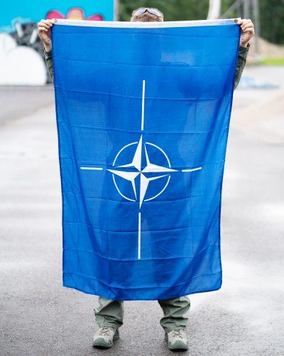 NATO Lippu Sinivalkoinen