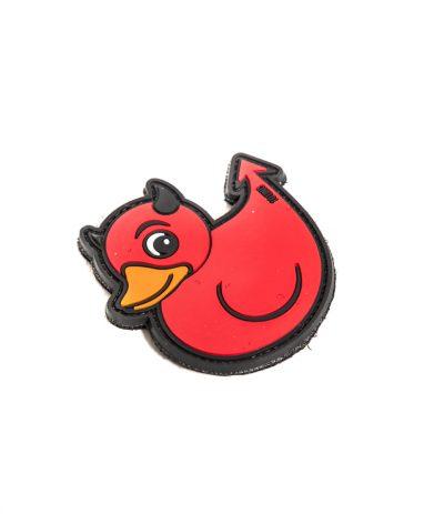 Devil Duckie Velcromerkki Punainen