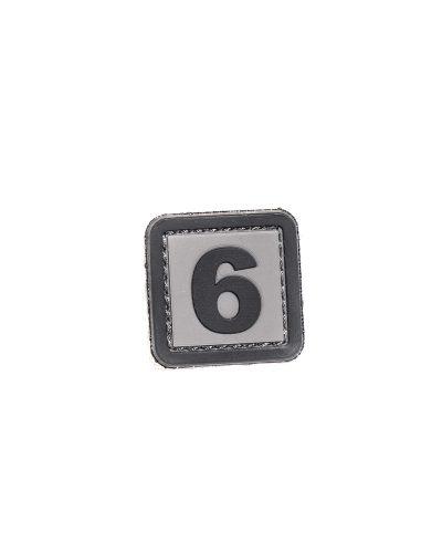 Numero 6 tai 9 Velcromerkki Harmaa
