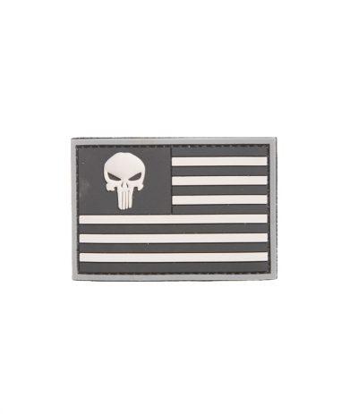 Punisher Lippu Velcro Hihamerkki