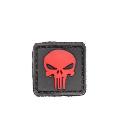 Punisher Mini Velcromerkki Punainen