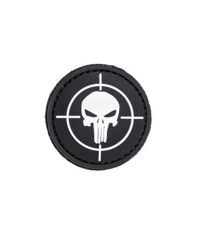 Punisher Target Pääkallo PVC Velcromerkki