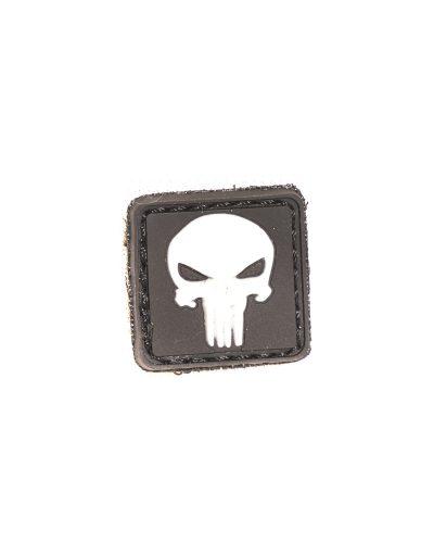 Punisher Mini Velcromerkki Valkoinen