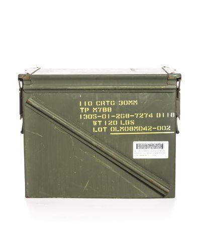 NATO Ylijäämä Ammuslaatikko 30mm Konetykin Ammuksille
