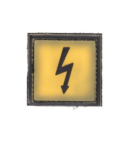 Sähköiskun Vaara Keltainen Velcromerkki