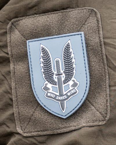 SAS Who Dares Wins Velcromerkki Harmaa