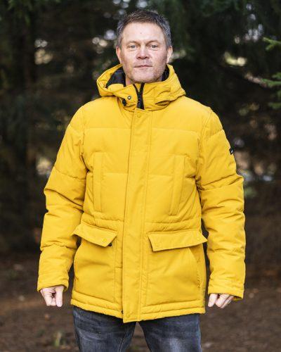 Wick Pitkä Parkatakki Keltainen