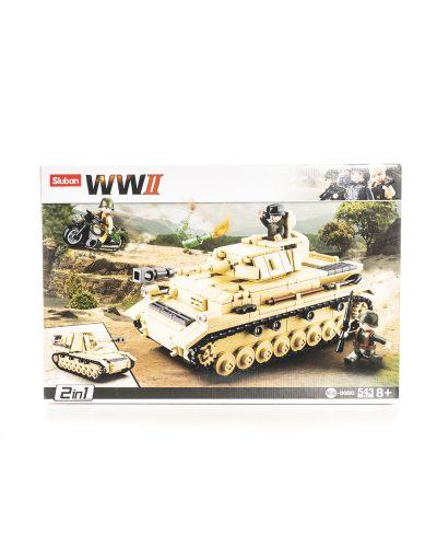 Sluban WW2 Axis Tank Panssarivaunu